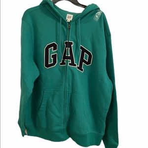 GAP Men's Green Hoodie Size XL
